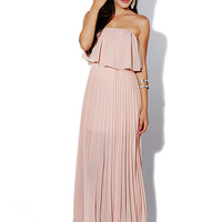 Papaya Clothing Online :: RUFFLED PELATS CHIFFON MAXI DRESS