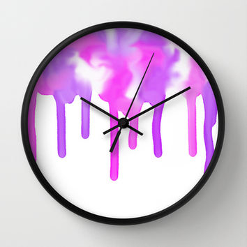 Pink-Purple Oasis Wall Clock by Color Project by Sanja