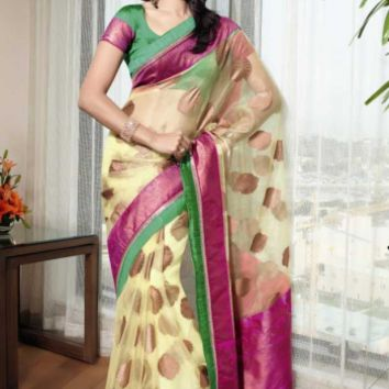 Buy Latest Party Wear Tisuue Fabric Sraee Designer Wear at Shibori Fashion