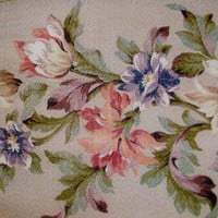 Genuine Vintage Floral Drapery Panel by sug77 on Etsy