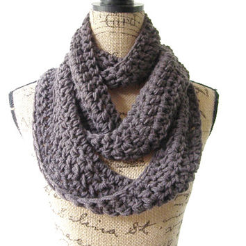 Ready To Ship Charcoal Dark Gray Graphite Cowl Scarf Fall Winter Women's Accessory Infinity