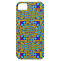A Circle and hearth pattern iPhone 5 Cover