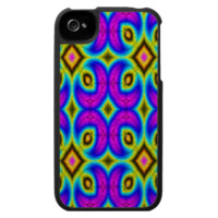 Colorful trendy pattern iPhone 4 cover