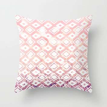 Diamond Blush Throw Pillow by Lisa Argyropoulos | Society6
