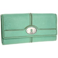 Fossil Maddox Zip Clutch,Sea Green,One Size