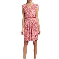 AK Anne Klein Women's Tonal Printed Matte Dress
