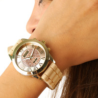 One Minute More Watch: Tan/Blush