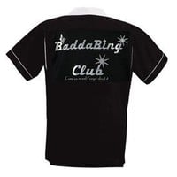 BaddaBing Club Bowling Shirt Black & White Classic