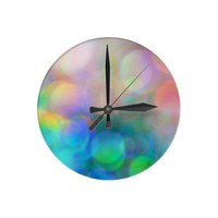 Color Me Happy Wall Clock from Zazzle.com