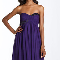 Maggy London Strapless Bead Bodice Dress | Nordstrom