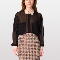 American Apparel Houndstooth Jacquard Pencil Skirt