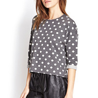 Heathered Polka Dot Pullover