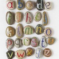 Alphabet from Sea Stones on Etsy