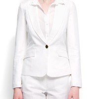 Mango Women`s Relaxed-fit Smoking Blazer