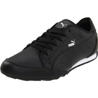 Puma New Merit Fs 3 Lace-Up Fashion Sneaker,Black/Metallic Silver/White,11.5 US/13 D US