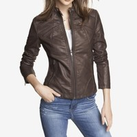 (MINUS THE) LEATHER SEAMED MOTO JACKET
