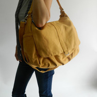 SALE - Daniel in mustard // Shoulder bag / Messenger / tote bag /hobo/ Diaper bag / Handbag / For Her / new Mom / Women
