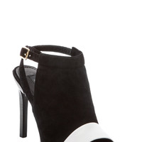 Lacey Heel in White/Black