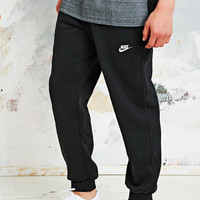 Nike Fleece Cuff Sweat Pants in Black - Urban Outfitters