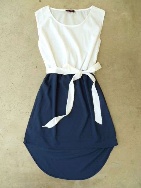 Navy La Sallee Colorblock Dress [2554] - $28.00 : Vintage Inspired Clothing & Affordable Summer Dresses, deloom | Modern. Vintage. Crafted.