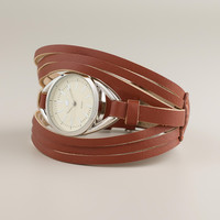 Brown Leather Multi-Strand Watch - World Market