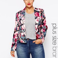Paper Dolls Plus Rose Floral Tailored Jacket
