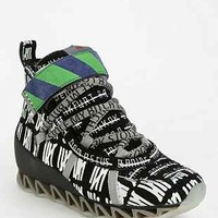 Camper Together Wilhelm Grid Wedge High-Top Sneaker - Urban Outfitters
