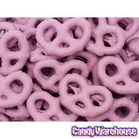 Raspberry Yogurt Covered Mini Pretzels: 1LB Bag