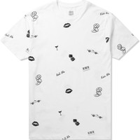 HUF White Kiss Blow Roll S/S T-Shirt | HYPEBEAST Store. Shop Online for Men's Fashion, Streetwear, Sneakers, Accessories