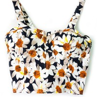 Sweet Floral Cropped Cami