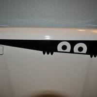 Toilet Monster Sticker by EmeraldCityStudio1 on Etsy