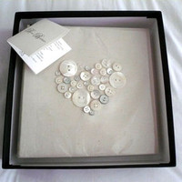 Handmade Mother of Pearl Heart Photo Album