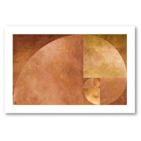 Golden Ratio, Fibonacci Spiral Print from Zazzle.com