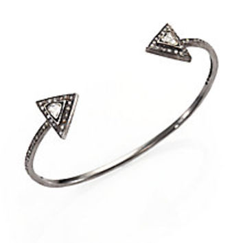 Zoe Chicco - Diamond & Sterling Silver Triangle Cuff Bracelet - Saks Fifth Avenue Mobile