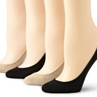 Hue Women's 4 Pair Pack Micro Liner Socks