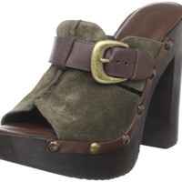 Madison Harding Women`s Ari Clog,Olive,6 M US