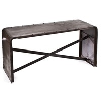 Iron Low Sofa Table Old Iron Laquer - Dining