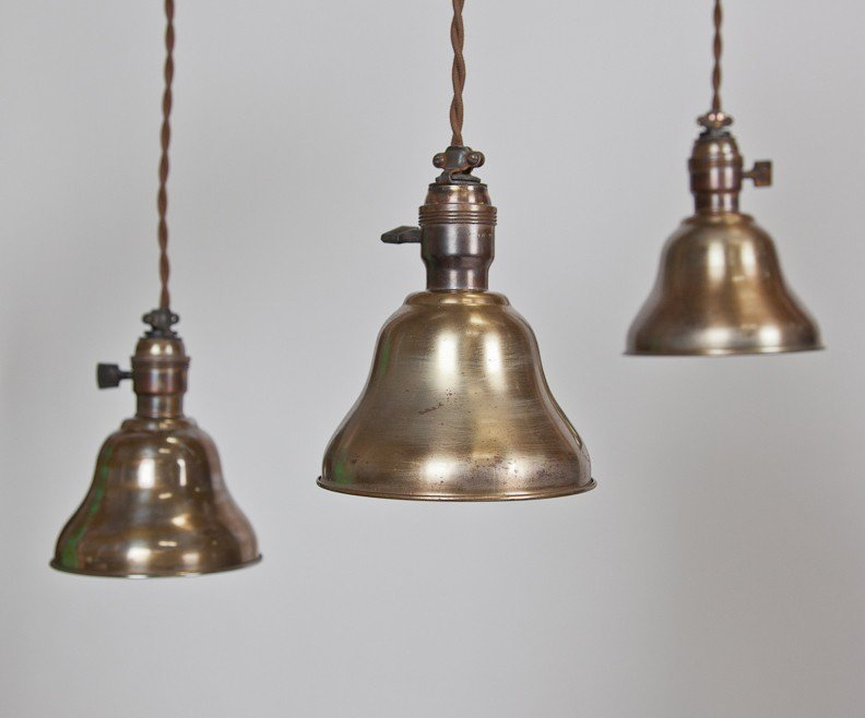 Gold Bell Pendant (Set of 3) - Lighting