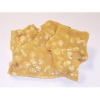 Scott&#x27;s Cakes 1 lb. Macadamia Nut Brittle in a Decorative Tray with Krinkle Paper