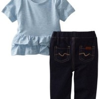 7 For All Mankind Baby-Girls Newborn Tunic Denim Set