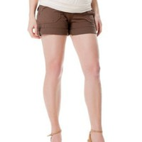 A Pea in the Pod Collection: Sanctuary Secret Fit Belly(tm) Button Detail Maternity Shorts