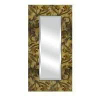 "40"" Josette Fleur De Lis and Bird Rectanglar Beveled Wall Mirror"