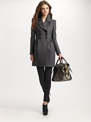 Burberry London - Double-Breasted Skirted Coat - Saks.com
