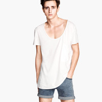 H&M - T-shirt with Chest Pocket - White - Men