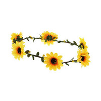 Yellow Daisy Hair Garland - Yellow