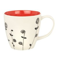 Red &#x27;Rambling rose&#x27; mug - Mugs - Dinnerware - Home &amp; furniture -