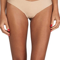 Commando Cotton Thong in Beige
