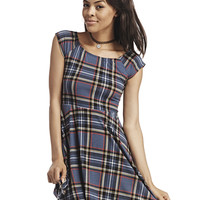 Tartan Plaid Skater Dress | Wet Seal