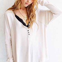 Truly Madly Deeply Boyfriend Thermal Henley Shirt-