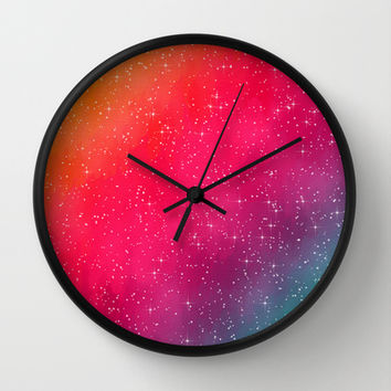 Colorful Galaxy Wall Clock by Texnotropio